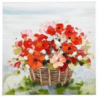 Blumen ÖLGEMÄLDE - Multicolor, LIFESTYLE, Holz/Textil (30/30cm) - Monee