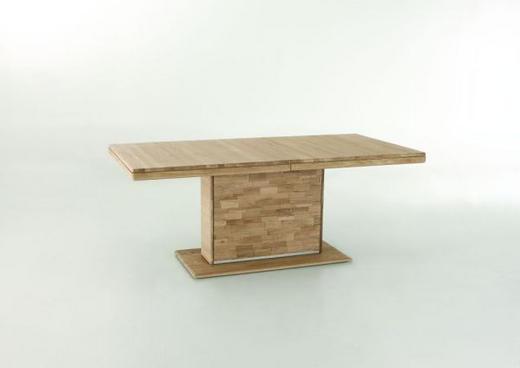 ESSTISCH Wildeiche vollmassiv rechteckig Eichefarben - Eichefarben, Basics, Holz/Metall (150/95/76cm) - VALDERA