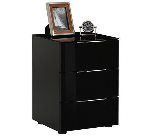 KOMODA, antracitová - černá/barvy chromu, Basics, kov/kompozitní dřevo (46/62/40cm)
