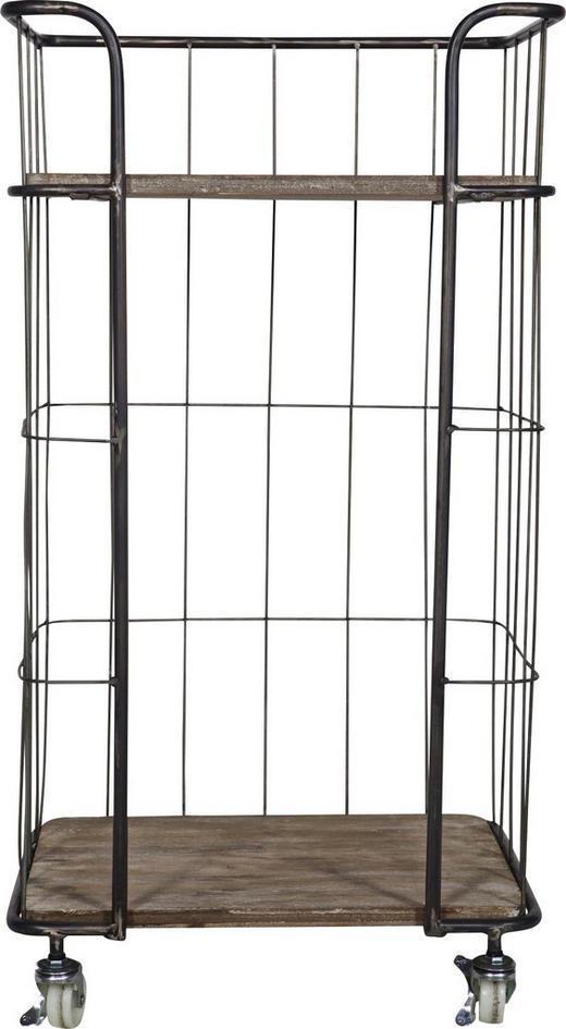 REGAL in 47,5/88,5/37,5 cm Braun, Silberfarben - Silberfarben/Braun, Trend, Holz/Metall (47,5/88,5/37,5cm) - Carryhome