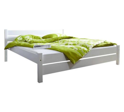 BETT Kiefer massiv 140/200 cm  - Weiß, Natur, Holz (140/200cm) - Carryhome