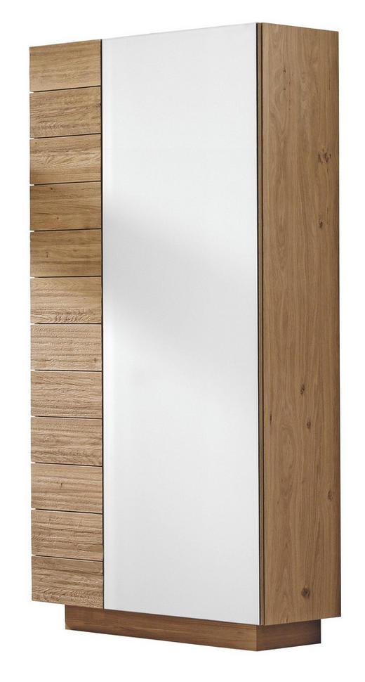 GARDEROBENSCHRANK - Eichefarben, Design, Glas/Holz (96/202/42,5cm) - Voglauer