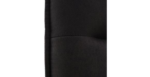 TRESENSTUHL in Metall, Textil Anthrazit, Schwarz - Anthrazit/Schwarz, Design, Textil/Metall (56/98/62cm) - Valnatura
