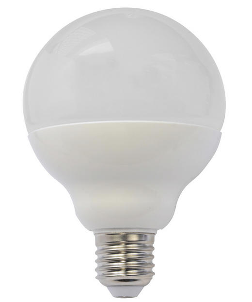 LED-Leuchtmittel E27 - Weiß, Basics, Glas (12,7cm) - Homeware