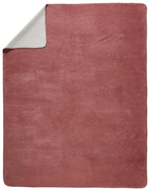 WOHNDECKE 150/200 cm Rosa, Silberfarben - Silberfarben/Rosa, Basics, Textil (150/200cm) - Novel