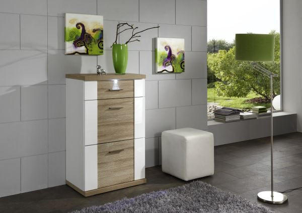 Kommode Chromfarben Eichefarben Design Holzwerkstoff Kunststoff Xora?upscaleu003dpaddu0026wu003d520u0026hu003d470u0026qltu003d90