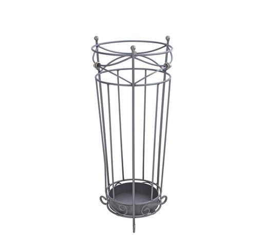 STOJAN NA DEŠTNÍK, antracitová - antracitová, Konvenční, kov (24/55cm)