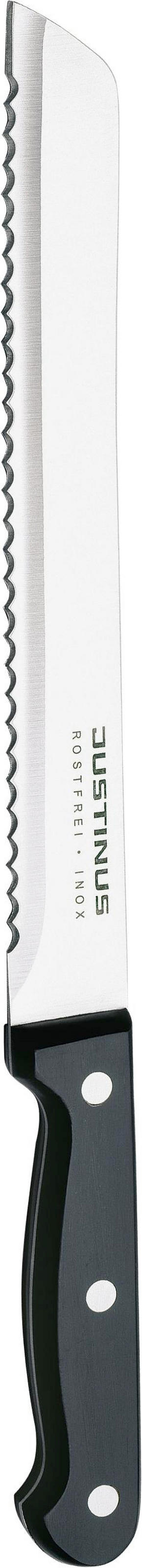 BRÖDKNIV - silver/svart, Basics, metall/plast (33cm) - Justinus