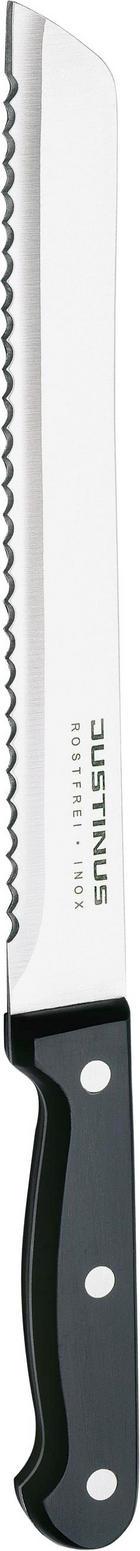NŮŽ NA PEČIVO - černá/barvy stříbra, Basics, kov/umělá hmota (33cm) - JUSTINUS