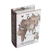Bücherbox - Braun, Konventionell, Holzwerkstoff/Kunststoff (16/11/4,5cm) - Ambia Home