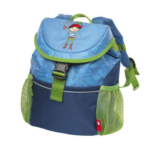 Kindergarten-Rucksack - Blau/Hellgrün, Basics, Textil (26/30/12cm) - Sigikid