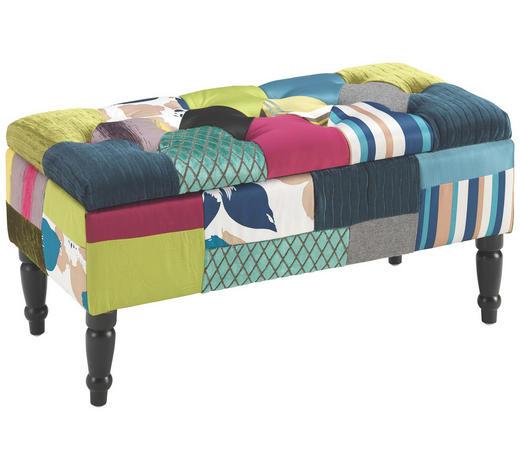 SITZBANK Multicolor  - Dunkelbraun/Multicolor, LIFESTYLE, Holz/Textil (80/40/40cm) - Carryhome