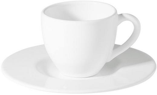 JUMBOTASSE MIT UNTERTASSE - Weiß, Basics, Keramik (0.5l) - ASA