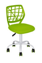 JUGENDDREHSTUHL Netzbespannung Grün, Weiß - Weiß/Grün, Trend, Kunststoff/Textil (40/72-82/45cm) - Carryhome