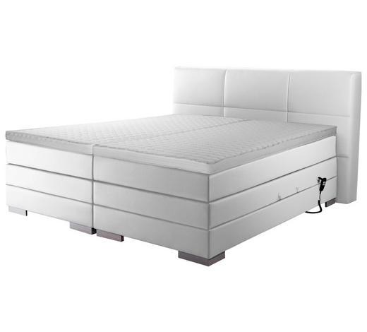 BOXSPRINGBETT 'PRINZ' H2 160/200 cm - Silberfarben/Weiß, MODERN, Textil (160/200cm) - Novel