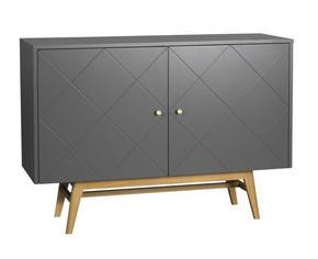 SIDEBOARD - vit/mässingfärg, Modern, metall/trä (124/87/42cm) - Rowico