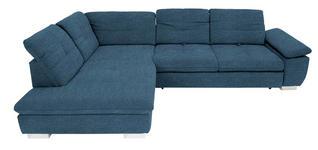 WOHNLANDSCHAFT in Textil Blau  - Chromfarben/Blau, Design, Textil (242/313cm) - Xora