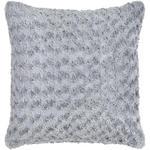 Zierkissen Rose ca. 45/45cm - Silberfarben, ROMANTIK / LANDHAUS, Textil (45/45cm) - James Wood