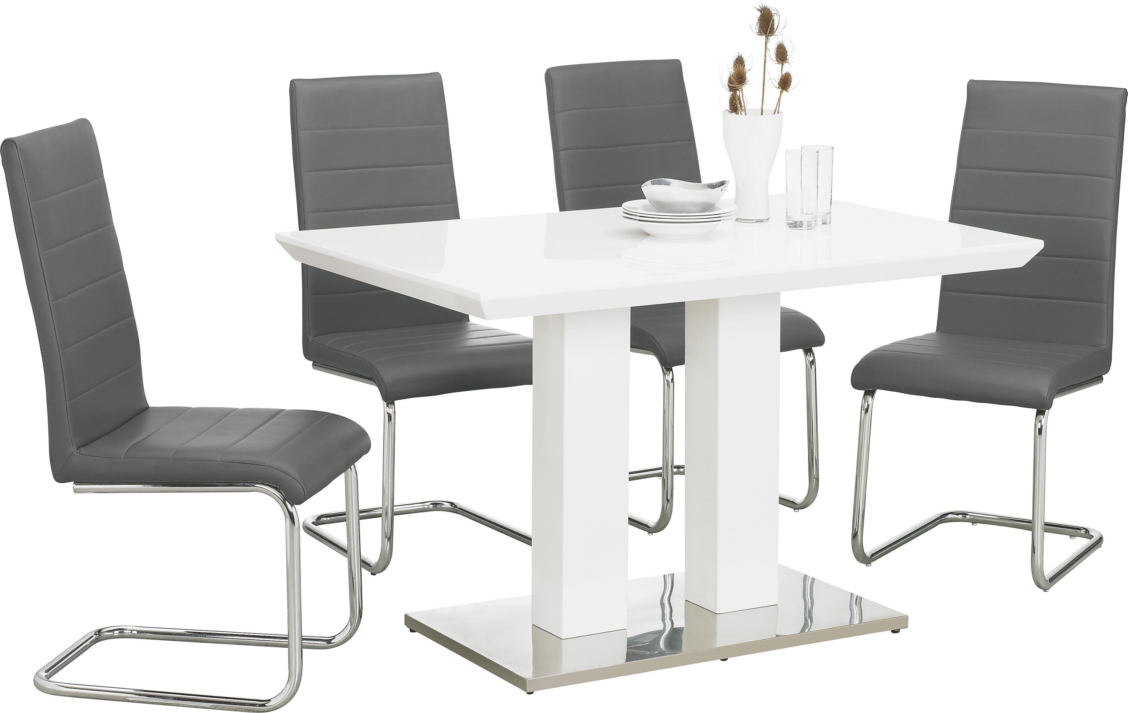 MATBORD - vit/rostfritt stål-färgad, Design, metall/träbaserade material (120/80/76cm)
