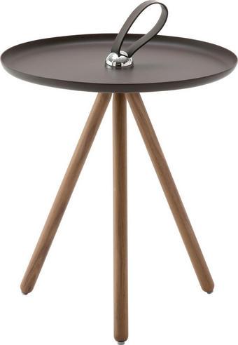 BEISTELLTISCH rund Grau, Nussbaumfarben - Nussbaumfarben/Grau, Design, Holz/Metall (40/45cm) - Rolf Benz