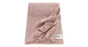 PLAID 130/170 cm Rosa, Beige - Beige/Rosa, Textil (130/170cm) - Schöner Wohnen