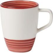 KAFFEEBECHER - Rot/Weiß, Keramik (0,38l) - Villeroy & Boch