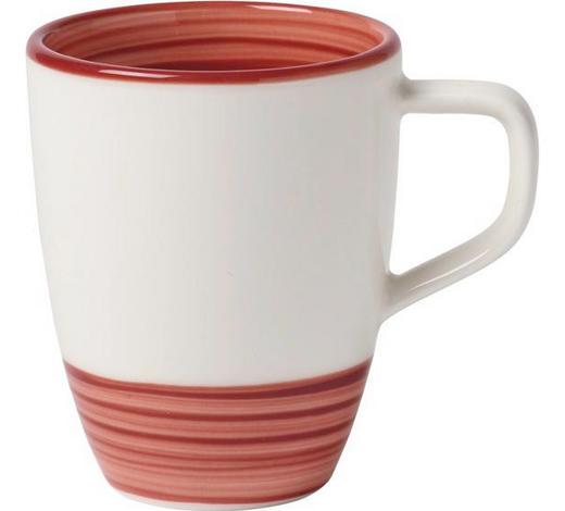 KAFFEEBECHER - Rot/Weiß, Trend, Keramik (0,38l) - Villeroy & Boch