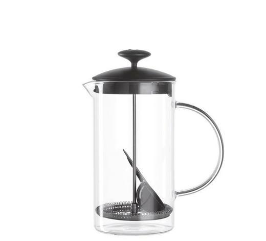 KAFFEEBEREITER - Klar/Schwarz, Basics, Glas/Kunststoff (14/22,5/11,5cm) - Leonardo
