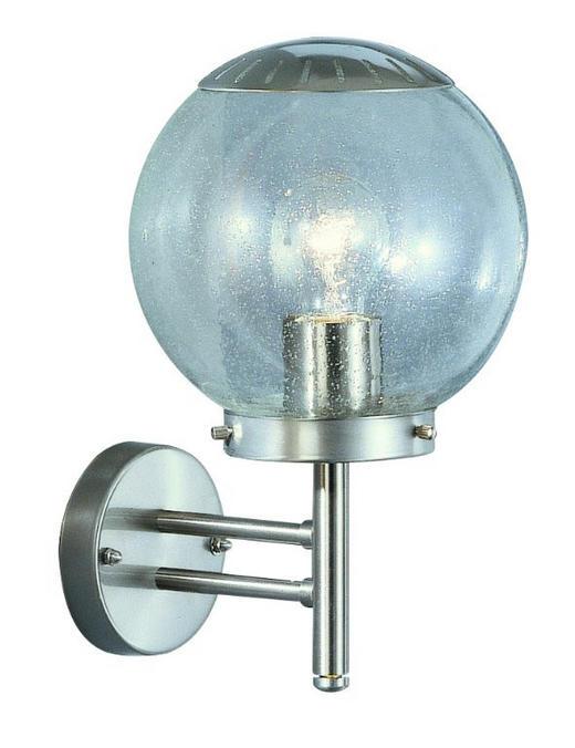 AUSSENWANDLEUCHTE 24CM - KONVENTIONELL, Glas/Metall (20/33cm)