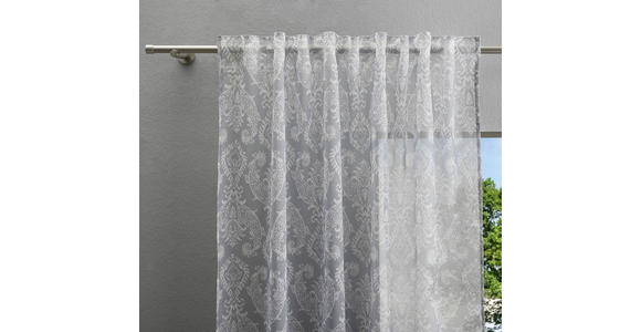 FERTIGVORHANG halbtransparent  - Grau, Trend, Textil (135/245cm) - Esposa
