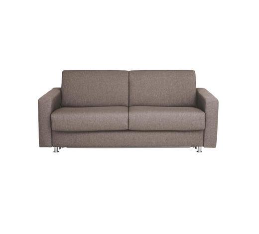 SCHLAFSOFA Flachgewebe Grau - Chromfarben/Grau, KONVENTIONELL, Textil/Metall (195/84/100cm) - Bali