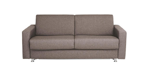 SCHLAFSOFA Flachgewebe Grau - Chromfarben/Grau, KONVENTIONELL, Textil/Metall (195/84/100cm)