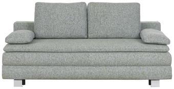 POHOVKA BOXSPRING - šedá/barvy chromu, Design, kov/textil (204/95/100cm)