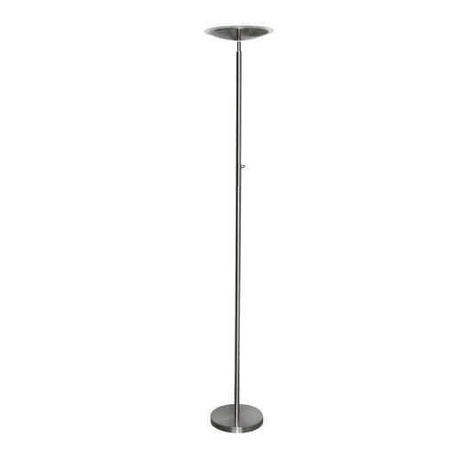 LED-STEHLEUCHTE - Nickelfarben, Design, Kunststoff/Metall (30/180cm) - Boxxx