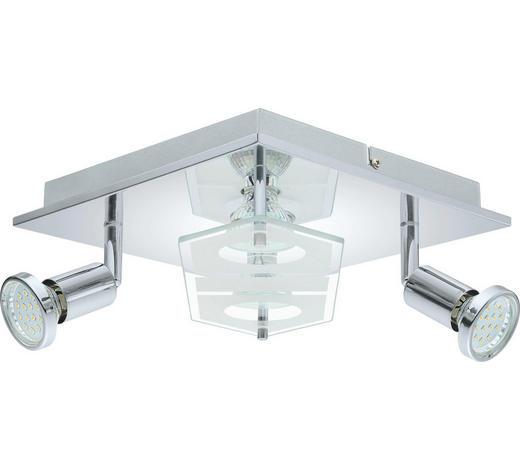 LED-DECKENLEUCHTE - Chromfarben, KONVENTIONELL, Glas/Kunststoff (25/25/7cm) - Novel