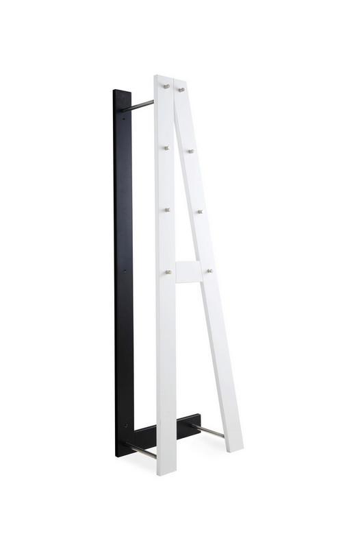 GARDEROBA ZIDNA - bijela/crna, Design, drvni materijal (55/180/35cm) - Boxxx