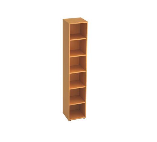 REGAL in Buchefarben - Buchefarben/Schwarz, KONVENTIONELL, Holzwerkstoff/Kunststoff (40/215,6/40cm)