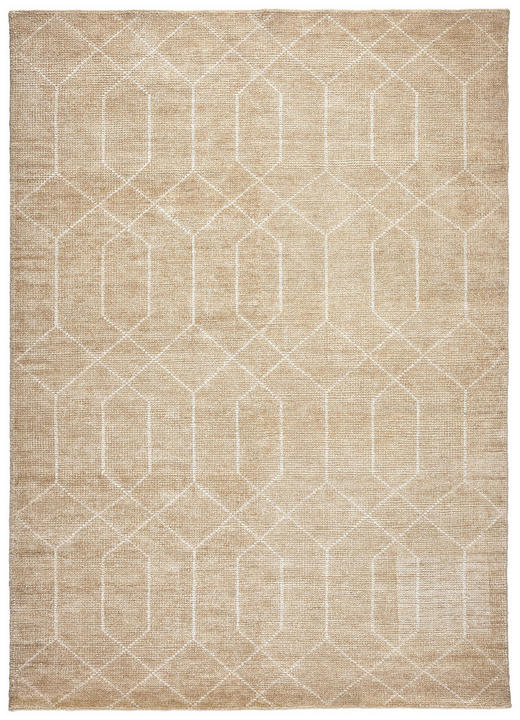 HANDWEBTEPPICH  120/180 cm  Beige - Beige, Design, Textil (120/180cm) - Linea Natura