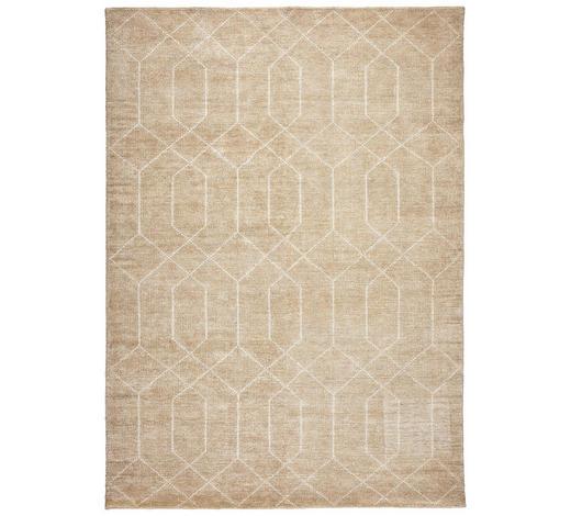 HANDWEBTEPPICH  90/160 cm  Beige   - Beige, Design, Textil (90/160cm) - Linea Natura