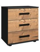 NOČNÍ STOLEK, barvy grafitu, barvy smrku - barvy smrku/černá, Trend, kov/kompozitní dřevo (52/58/38cm) - Ti`me