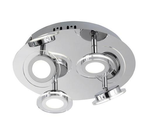 LED-DECKENLEUCHTE - Chromfarben, Design, Metall (35/10cm)