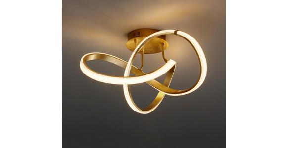 LED-DECKENLEUCHTE 49 W     - Goldfarben, Design, Kunststoff/Metall (59/29/59cm) - Ambiente