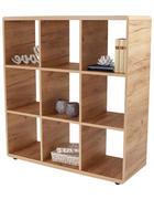REGAL 108,8/110,2/35 cm hrast - črna/hrast, Konvencionalno, umetna masa/leseni material (108,8/110,2/35cm) - Xora