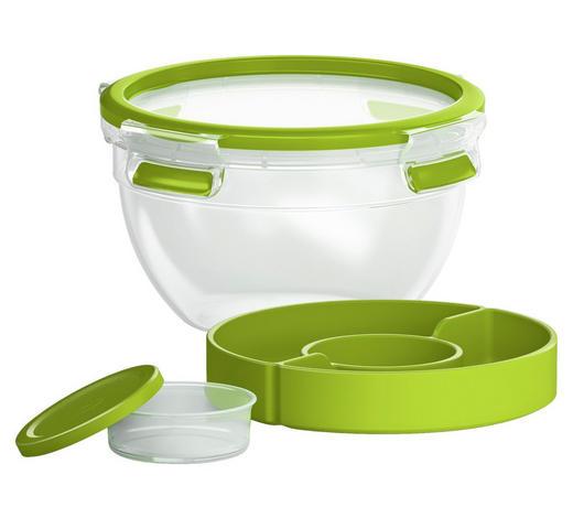 SALATSET - Klar/Grün, KONVENTIONELL, Kunststoff (1,1l) - Emsa