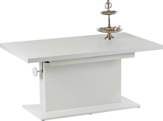 Couchtisch mit Funktion rechteckig Weiß - Weiß, Design (120-160/59-75/60cm) - Carryhome