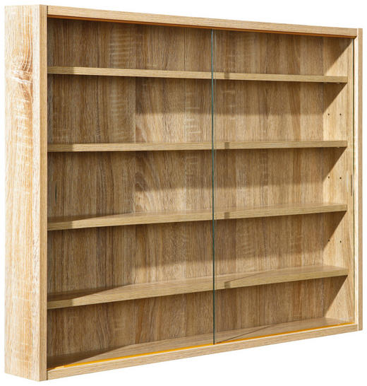 HÄNGEVITRINE Sonoma Eiche - Sonoma Eiche, KONVENTIONELL, Glas/Holzwerkstoff (80/60/9,5cm) - Carryhome
