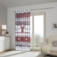 ÖSENVORHANG black-out (lichtundurchlässig) - Rot/Grau, Trend, Textil (140/245cm) - Esposa
