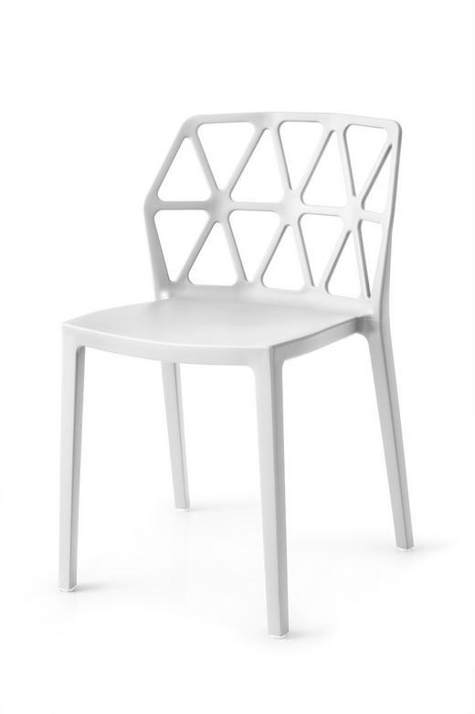 VIERFUßSTUHL Weiß - Schwarz/Weiß, MODERN, Kunststoff (49,5/79/51cm)