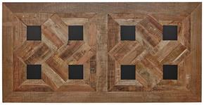 BORDSSKIVA - ljusbrun/svart, Trend, metall/trä (180/90/3,8cm) - Valdera