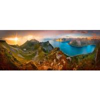 Berge GLASBILD - Glas (125/50cm) - Eurographics